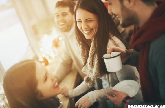 friends coffee winter