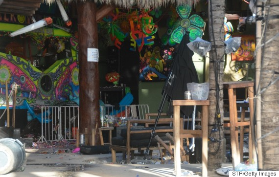 blue parrot playa del carmen mexico shooting