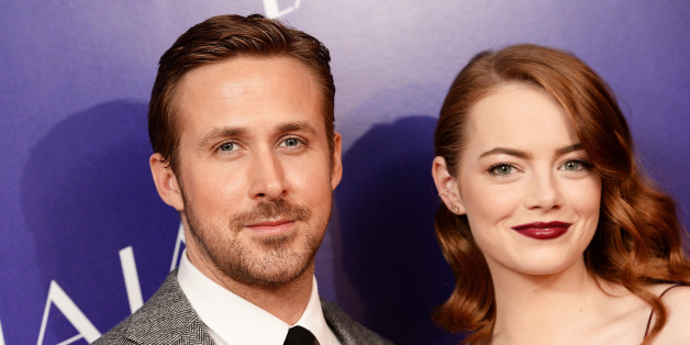LONDON, ENGLAND - JANUARY 12:  Actor Ryan Gosling and Actress Emma Stone attend the Gala screening of 'La La Land' at Ham Yard Hotel on January 12, 2017 in London, England.  (Photo by Dave J Hogan/Getty Images)