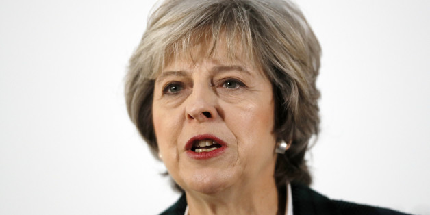 LONDON, ENGLAND - JANUARY 17:  British Prime Minister Theresa May delivers her keynote speech on Brexit at Lancaster House on January 17, 2017 in London, England.  It is widely expected that she will announce that the UK is to leave the single market.  (Photo by Kirsty Wigglesworth - WPA Pool /Getty Images)
