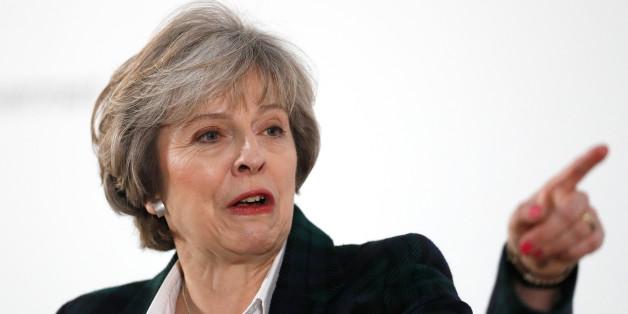 """Die britische Regierungschefin Therese May kündigte gestern einen """"harten Brexit"""" an"""