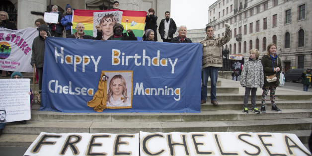Demonstration for Chelsea Manning in London, England, United Kingdom. Chelsea Manning (born Bradley Edward Manning) is a United States Army soldier who was convicted by court-martial in July 2013 of violations of the Espionage Act and other offenses, after disclosing to WikiLeaks nearly three-quarters of a million classified or unclassified but sensitive military and diplomatic documents. Manning was sentenced in August 2013 to 35 years imprisonment, with the possibility of parole in the eighth
