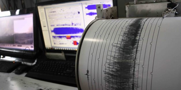 KARO, INDONESIA - MAY 23: Seismograph showed higher activity of volcano Sinabung on May 23, 2016 in Karo, Indonesia.   Mount Sinabung blew ash and smoke as far as 3200 meters into the air, which killed seven people and two life-threatening burns with fear of the hot ashes, on May 21st. disaster agency official said. Indonesian rescuers search for victims in the scorched villages and farmland were destroyed after the volcano erupted in burning ash and gas clouds.  PHOTOGRAPH BY Albert Damanik / Barcroft Images  London-T:+44 207 033 1031 E:hello@barcroftmedia.com - New York-T:+1 212 796 2458 E:hello@barcroftusa.com - New Delhi-T:+91 11 4053 2429 E:hello@barcroftindia.com www.barcroftimages.com (Photo credit should read Albert Damanik / Barcroft Images / Barcroft Media via Getty Images)