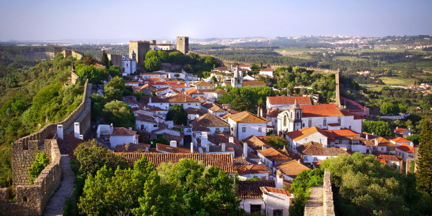 View of the beautiful medieval village of Obidos in the centre of Portugal