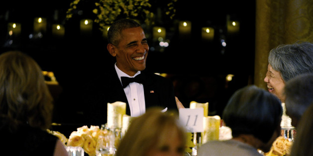 U.S. President Barack Obama and first lady Michelle Obama host a state dinner for Singapore Prime Minister Lee Hsien Loong and his wife Mrs. Lee Hsien Loong to the White House in Washington U.S., August 2, 2016. REUTERS/Mary F. Calvert