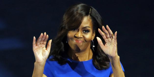 U.S. First lady Michelle Obama addresses the Democratic National Convention in Philadelphia, Pennsylvania, U.S. July 25, 2016. REUTERS/Scott Audette
