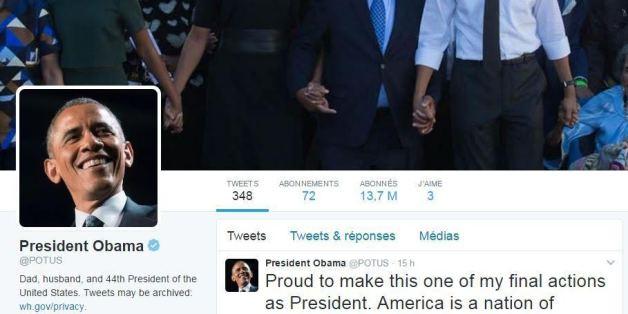 Le compte Twitter du président des États-Unis ne ressemble plus à ça