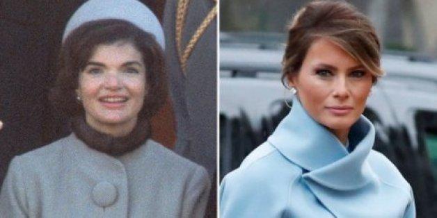 Avec sa tenue, Melania Trump a fait penser à Jackie Kennedy