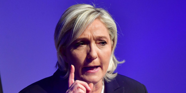 KOBLENZ AM RHEIN, GERMANY - JANUARY 21:   Marine Le Pen, leader of the French Front National political party, speaks at a conference of European right-wing parties on January 21, 2017 in Koblenz, Germany. In an event hosted by the Europe of Nations and Freedom political group of the European Parliament, leading members of the Front National of France, the Alternative for Germany (AfD), the Lega Nord of Italy, the Austria Freedom Party and the PVV party of the Netherlands are meeting for a one-da