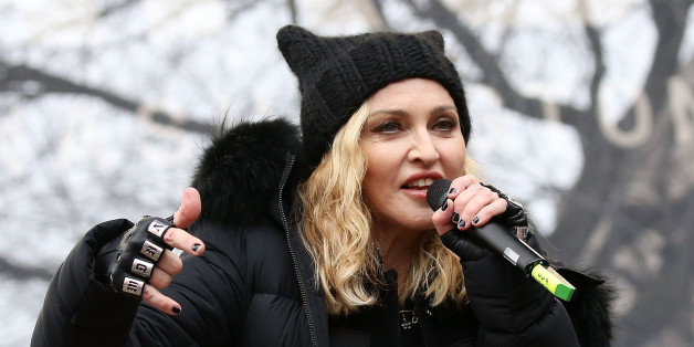 WASHINGTON, DC - JANUARY 21:  Madonna performs onstage during the Women's March on Washington on January 21, 2017 in Washington, DC.  (Photo by Paul Morigi/WireImage)