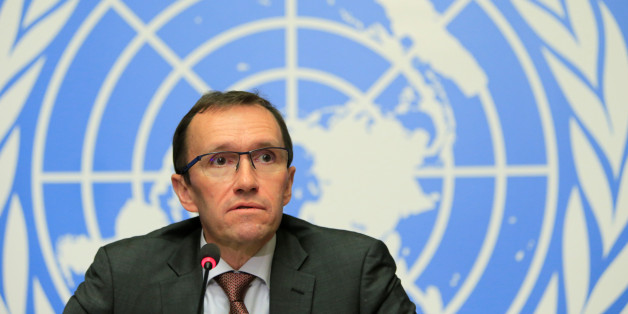 U.N. Special Advisor on Cyprus Espen Barth Eide speaks during a news conference in Geneva, Switzerland January 13, 2017. REUTERS/Pierre Albouy