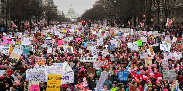 """""""Women's March"""" – In den USA und weltweit zeigten Menschen Solidarität mit der Demonstration in Washington D.C."""