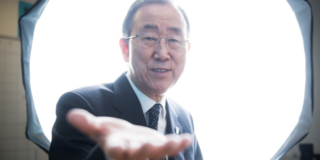 NEW YORK CITY, UNITED STATES - DECEMBER 23: UN Secretary General Ban Ki-moon in the UN photo studio during his last week in office. (Photo by Giles Clarke/Getty Images)