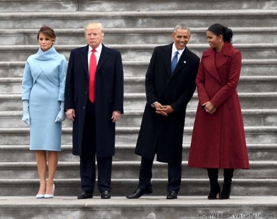 obama trump michelle melania