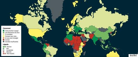 carte monde sécurité