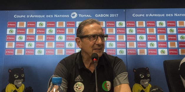 Algerias Belgian Coach Georges Leekens gives a press conference at Franceville Stadium in Franceville on January 18, 2017, as part of the Africa Cup of Nations football tournament in Gabon. / AFP / KHALED DESOUKI        (Photo credit should read KHALED DESOUKI/AFP/Getty Images)