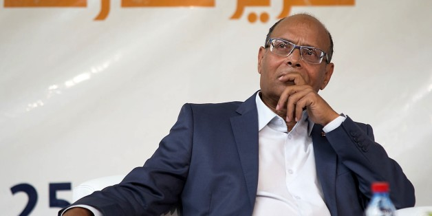 MARRAKESH, MOROCCO - JULY 29: Former Tunisian President Moncef Marzouki attends as speaker at youth conference of Morocco's Justice and Development Party, in Marrakesh, Morocco, on July 29, 2015. (Photo by Hisham Rashidi/Anadolu Agency/Getty Images)