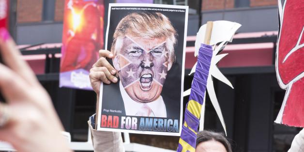Der amerikanische Protest gegen Trump sind groß