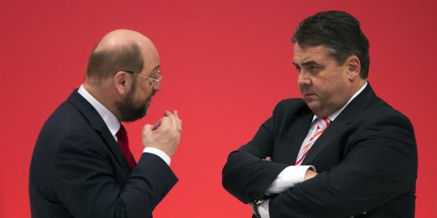 Die SPD-Spitzenpolitiker Martin Schulz und Sigmar Gabriel