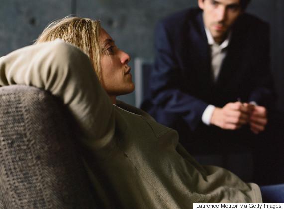 talking to therapist dark