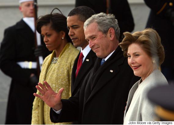 obama inauguration with bush