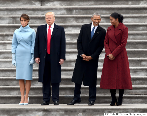 trump inauguration with obama