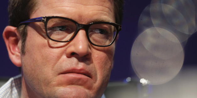 Former German Defence minister Karl-Theodor zu Guttenberg is seen at the CyberSecurity summit in Bonn November 3, 2014.   REUTERS/Wolfgang Rattay (GERMANY  - Tags: POLITICS BUSINESS TELECOMS CRIME LAW HEADSHOT)