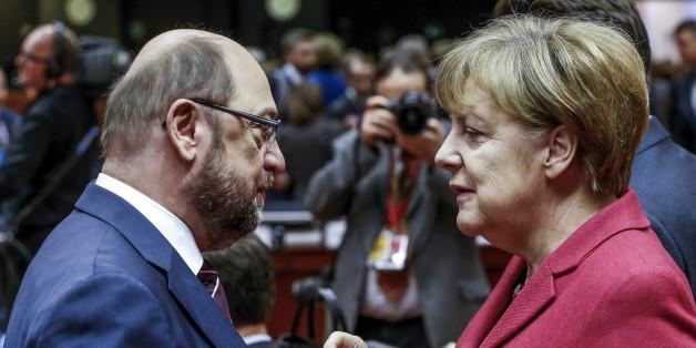 Vorsicht gegen Mut: So unterschiedlich haben Merkel und Schulz auf politische Ereignisse reagiert