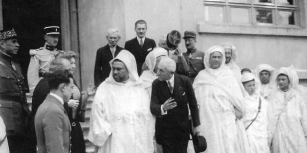 Le sultan Moulay Youssef visite Lyautey à Thorey en 1926.