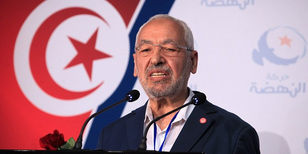 TUNISIA, TUNIS - MAY 23: President of Ennahda movement Rached Ghannouchi delivers a speech in a press conference after the congress of Tunisian Ennahda Party at the Olympic Hall in Rades in Tunisia, Tunis on May 23, 2016. (Photo by Yassine Gaidi/Anadolu Agency/Getty Images)