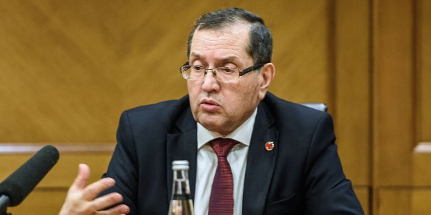 Algeria's Minister of Energy Noureddine Boutarfa speaks during a press conference during the 23rd World Energy Congress on October 12, 2016 in Istanbul. OPEC has issued an invitation to Russia and other key non-members of the oil cartel to attend a meeting later this month aimed at rebalancing crude prices after historic lows, the Qatari energy minister said on October 12.  / AFP / OZAN KOSE        (Photo credit should read OZAN KOSE/AFP/Getty Images)