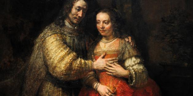 Rembrandt Harmenszoon van Rijn (1606-1669). Dutch painter. The Jewish Bride, c.1665-1669. Rijksmuseum, Amsterdam, Holland. (Photo by: PHAS/UIG via Getty Images)