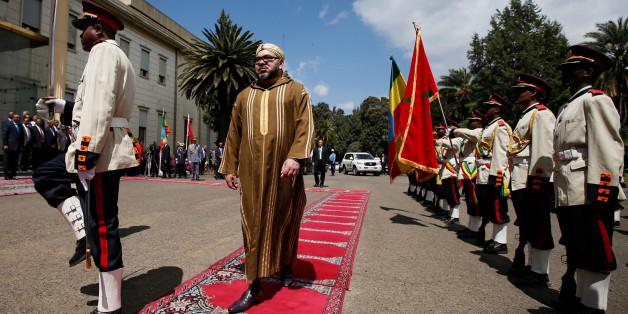 Le roi Mohammed VI lors de sa visite à Addis-Abeba, en Ethiopie, le 19 novembre 2016