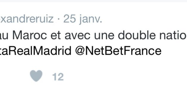 Capture du tweet en question