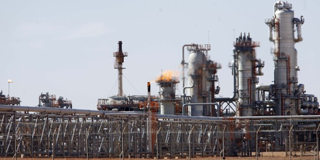 A view of Krechba gas treatment plant, about 1200 km (746 miles) south Algiers December 14, 2008. Algeria has approved or plans to approve projects expected to bring on up to 110,000 barrels per day (bpd) of crude oil output and 100,000 bpd of oil equivalents by 2012 or 2013, a Sonatrach official said on Sunday. REUTERS/Zohra Bensemra (ALGERIA)