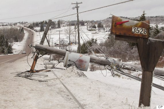 new brunswick ice storm