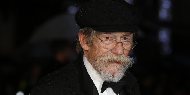 """Actor John Hurt arrives for the European premiere of the film """"The Imitation Game"""" at the BFI opening night gala at Leicester Square in London October 8, 2014. REUTERS/Suzanne Plunkett (BRITAIN - Tags: ENTERTAINMENT)"""