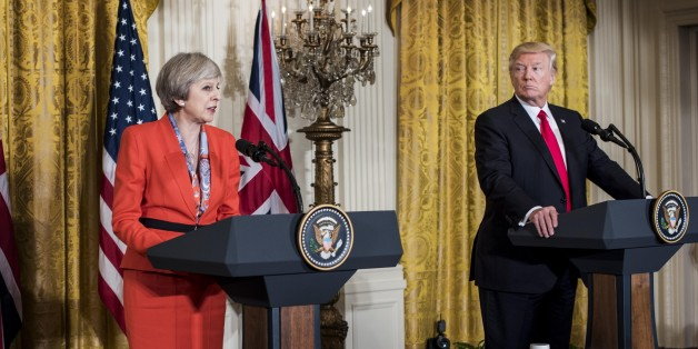 WASHINGTON, DC - President Donald Trump holds a joint press conference with Prime Minister of the United Kingdom Theresa May in Washington, DC Friday January 27, 2017. (Photo by Melina Mara/The Washington Post via Getty Images)