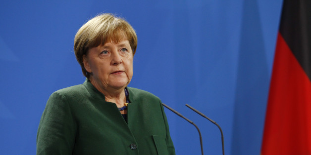 BERLIN, GERMANY - JANUARY 30: Germany Chancellor Angela Merkel and Ukraine's President Petro Poroschenko (not pictured) attend a press conference in the Germany Chancellery on January 30, 2017 in Berlin, Germany. Poroschenko is visiting Berlin to meet with Merkel over the stalled peace process in Ukraine and they are also expected to discuss bilateral relations and Ukraine's EU membership bid.  (Photo by Michele Tantussi/Getty Images)