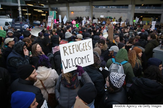 airport protest muslim new york