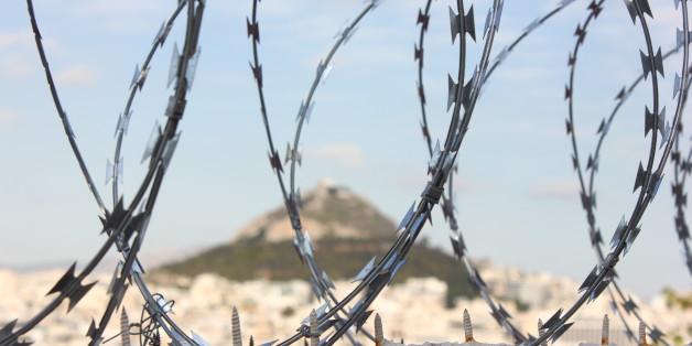 Athens view to Lykabettos Hill.