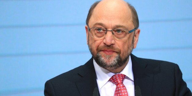 Martin Schulz, the Social Democrat Party (SDP) candidate for German Chancellor, pauses while speaking during a news conference at the SPD headquarters in Berlin, Germany, on Monday, Jan. 30, 2017. Schulz, 61, who last month stepped down as president of the European Parliament to join the German political fray, was hoisted to the Social Democratic candidacy after party leader Sigmar Gabriel surprised rank-and-file members by stepping aside. Photographer: Krisztian Bocsi/Bloomberg via Getty Images