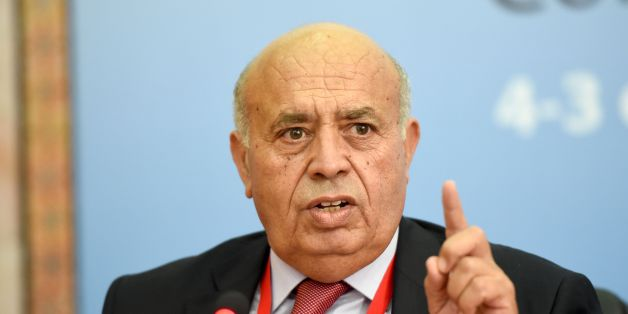 Tunisian Minister of Public Service and Governance, Abid Briki speaks during a joint press conference with the Organisation for Economic Cooperation and Development (OECD) secretary-general as part of an interministerial conference on October 3, 2016 in Tunis.