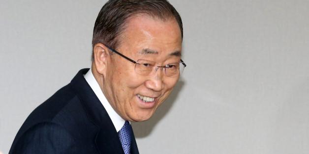 반기문 전 유엔사무총장이 31일 서울 마포 트라팰리스에서 열린 기자회견에 참석하고 있다.