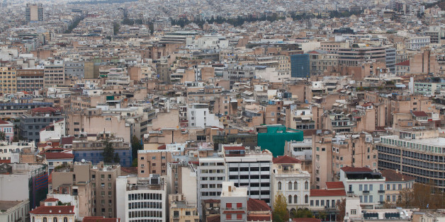 Panoramic view of the capital of Greece Athens.