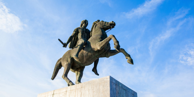 Alexander the Great statue on city square in Thessaloniki, Greece