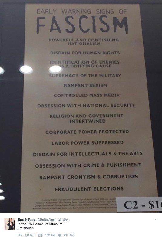 donald trump faschismus