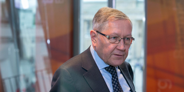 Klaus Regling, chief executive officer of the European Financial Stability Facility (EFSF), speaks ahead of a Bloomberg Television interview in Berlin, Germany, on Wednesday, April 27, 2016. Regling said yesterday that Greek reforms can help it reach debt sustainability without nominal haircuts on its loans. Photographer: Krisztian Bocsi/Bloomberg via Getty Images
