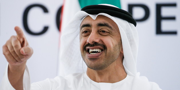 ABU DHABI, UNITED ARAB EMIRATES - FEBRUARY 1, 2017: United Arab Emirates' Foreign Minister Abdullah bin Zayed Al Nahyan at the 4th Arab-Russian Cooperation Forum session. Alexander Shcherbak/TASS (Photo by Alexander Shcherbak\TASS via Getty Images)