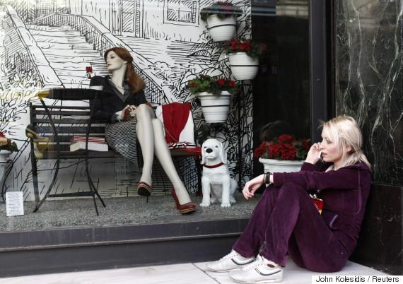 athens crisis shops